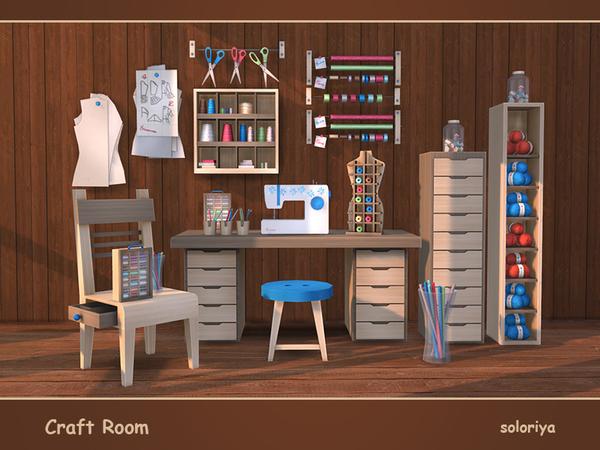 Craft Room by soloriya at TSR image 389 Sims 4 Updates