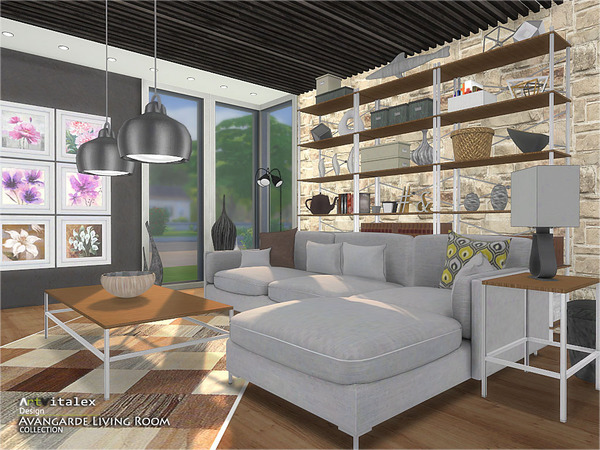 Avangarde Living Room by ArtVitalex at TSR image 39 Sims 4 Updates