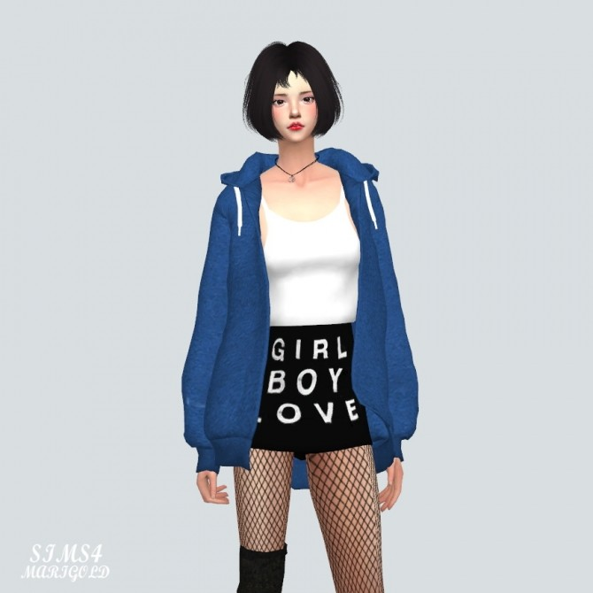 Sims 4 Hoodie With Crop Top at Marigold