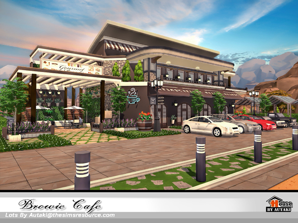 Browie Cafe by autaki at TSR image 3915 Sims 4 Updates