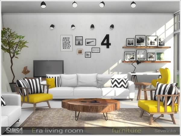 Sims 4 living room downloads sims 4 updates for Modern living room sims 4