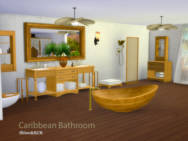 Bathroom Caribbean by ShinoKCR at TSR image 3925 Sims 4 Updates