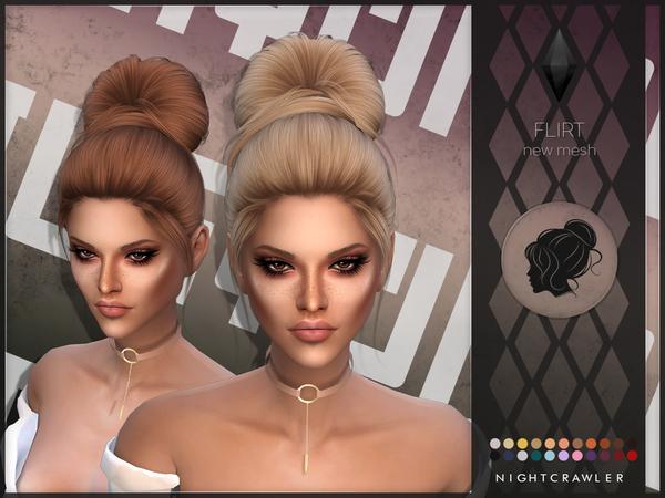 Flirt Hair By Nightcrawler At Tsr Sims 4 Updates