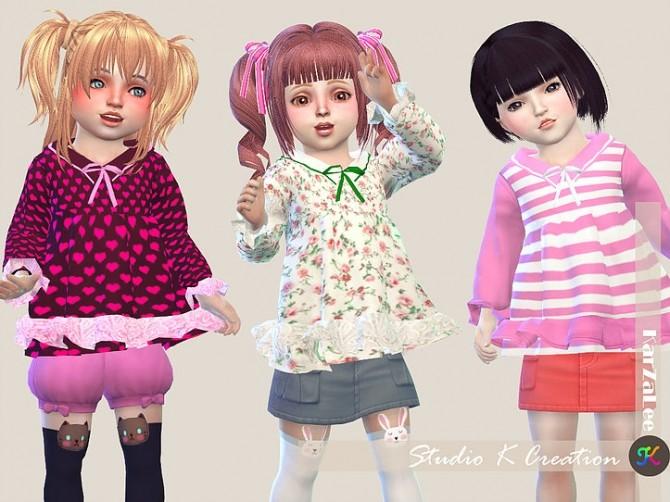 Sailor collar top T at Studio K Creation image 395 670x502 Sims 4 Updates