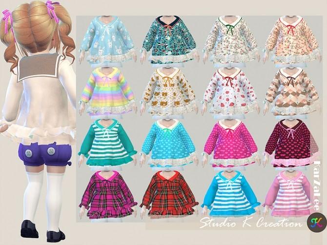 Sailor collar top T at Studio K Creation image 396 670x502 Sims 4 Updates