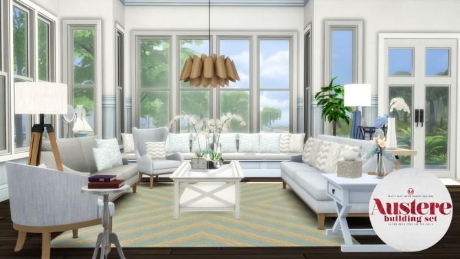 Sims 4 Austere Build Set at Simsational Designs