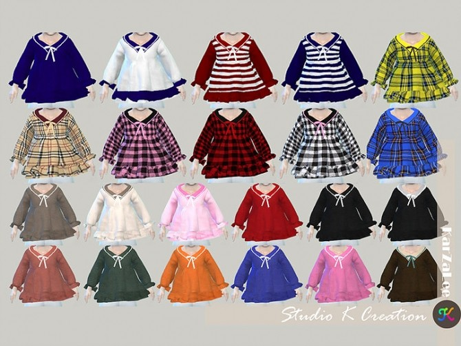 Sailor collar top T at Studio K Creation image 397 670x502 Sims 4 Updates