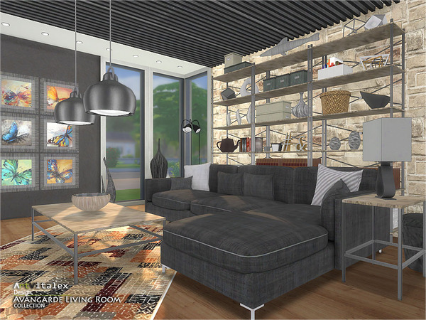 Avangarde Living Room by ArtVitalex at TSR image 40 Sims 4 Updates