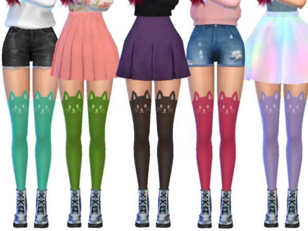 Kawaii Cat Stockings by Wicked Kittie at TSR image 4011 Sims 4 Updates