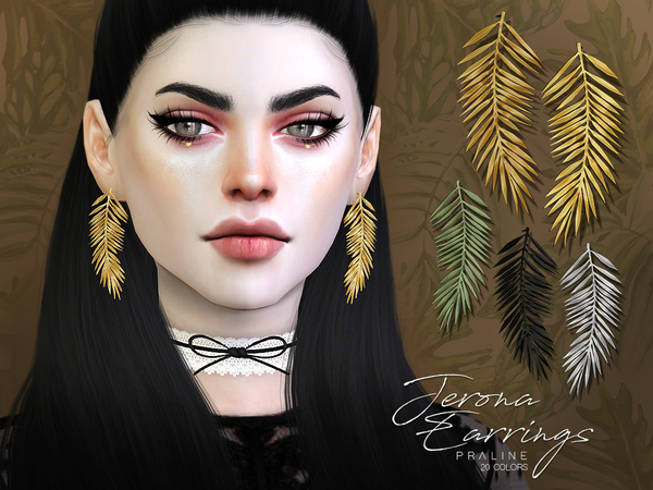 Jerona Earrings by Pralinesims at TSR image 4014 Sims 4 Updates