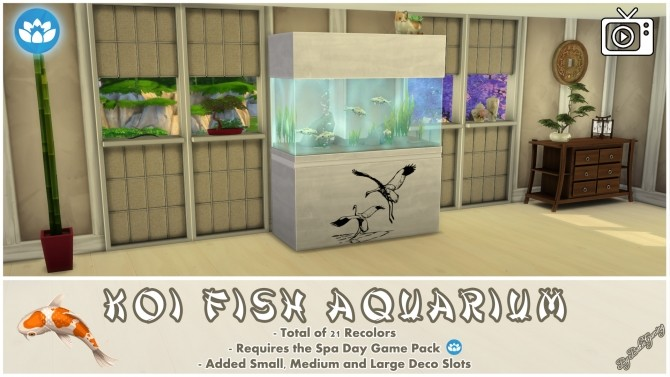 Koi Fish Aquarium by Bakie at Mod The Sims image 4024 670x377 Sims 4 Updates