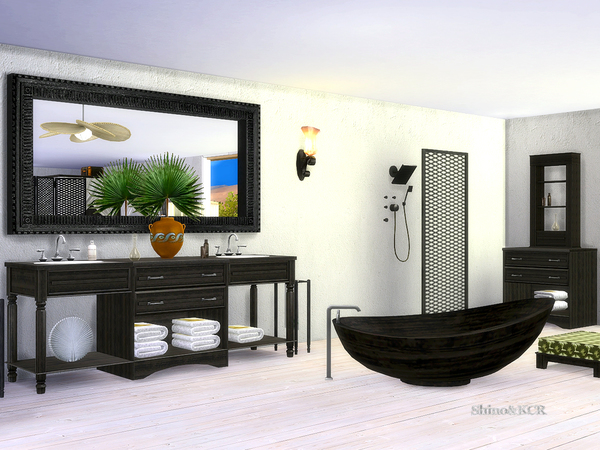 Bathroom Caribbean by ShinoKCR at TSR image 4025 Sims 4 Updates