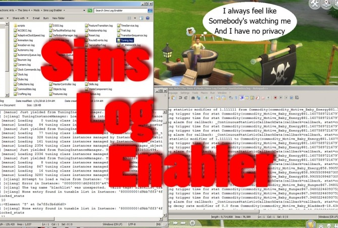 Sims Log Enabler by scumbumbo at Mod The Sims image 4033 670x452 Sims 4 Updates