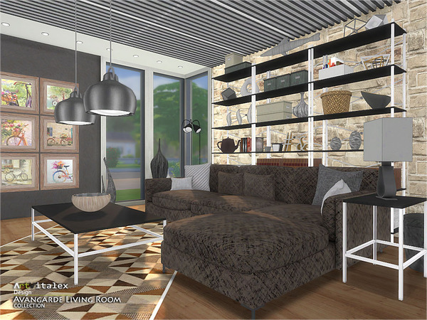 Sims 4 Avangarde Living Room by ArtVitalex at TSR
