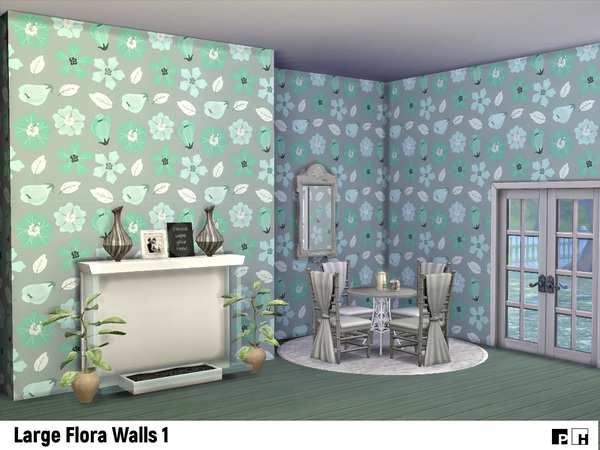 Large Flora Walls 1 by Pinkfizzzzz at TSR image 4105 Sims 4 Updates