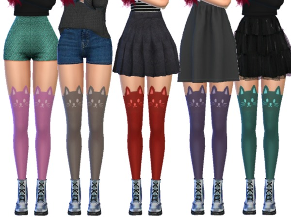 Kawaii Cat Stockings by Wicked Kittie at TSR image 4110 Sims 4 Updates