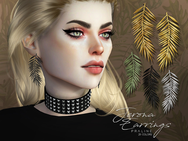 Jerona Earrings by Pralinesims at TSR image 4113 Sims 4 Updates
