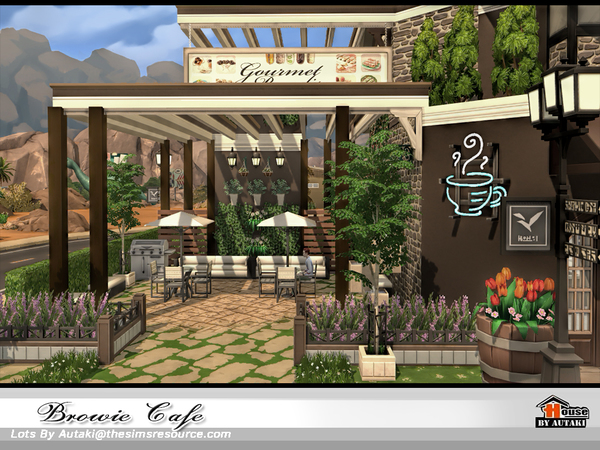 Browie Cafe by autaki at TSR image 4114 Sims 4 Updates