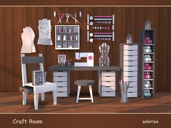 Craft Room by soloriya at TSR image 416 Sims 4 Updates