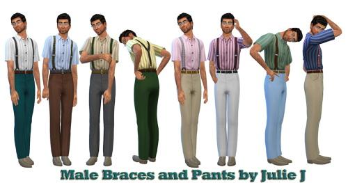 Male Braces & Pants at Julietoon – Julie J image 4191 Sims 4 Updates
