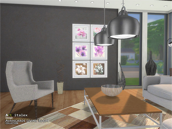 Avangarde Living Room by ArtVitalex at TSR image 42 Sims 4 Updates