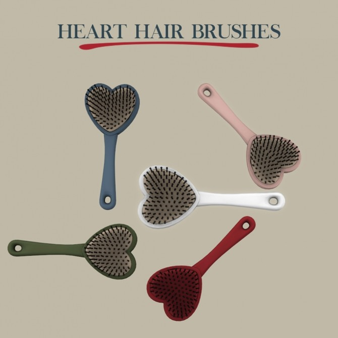 Sims 4 Heart Hairbrush at Leo Sims