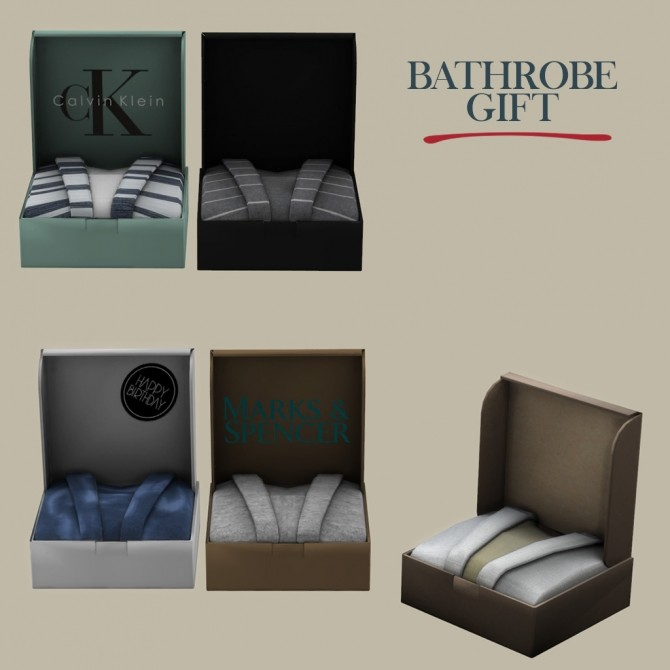 Sims 4 Bathrobe Gift at Leo Sims
