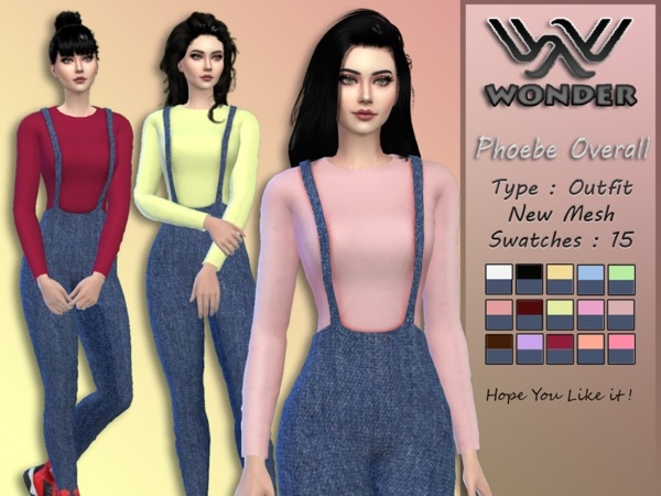 Sims 4 Phoebe Overall by Wonder Sims at TSR