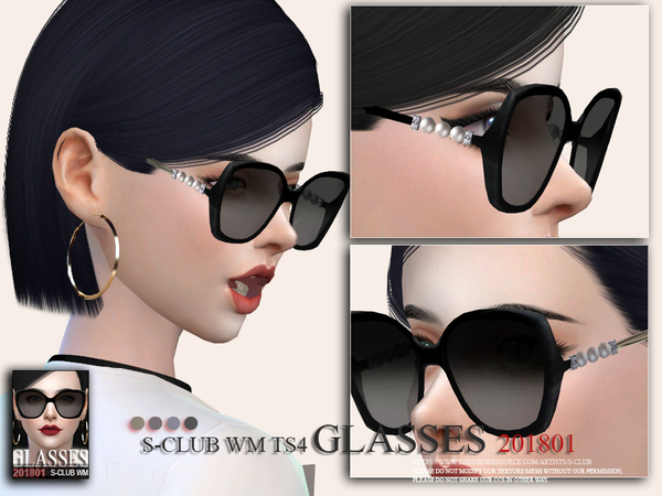 Glasses F 201801 by S Club WM at TSR image 4314 Sims 4 Updates