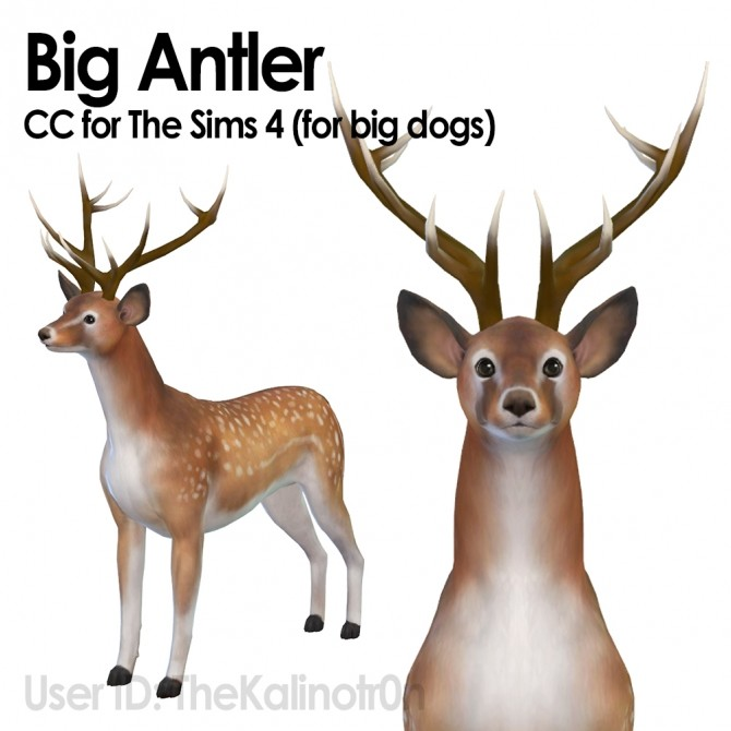 Big Antlers by TheKalino at Mod The Sims image 4324 670x670 Sims 4 Updates