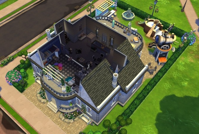 Sims 4 Blueprint Dream House NOCC by OxanaKSims at Mod The Sims