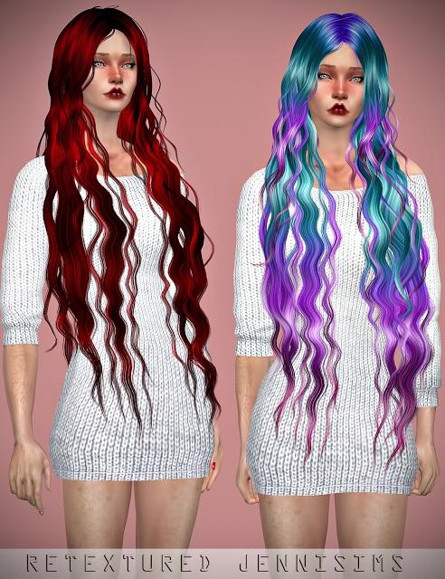 Sims 4 Newsea Siren Forest Hair retexture at Jenni Sims