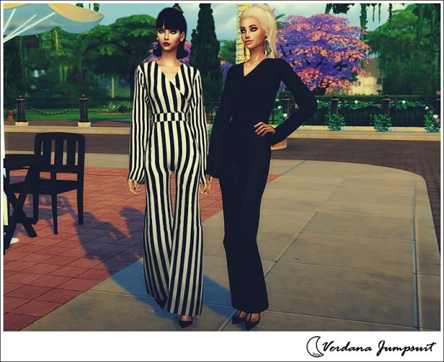 Sims 4 VERDANA JUMPSUIT at Blue8white