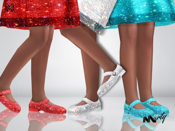 MP Kids Sparkly shoes by MartyP at TSR image 4410 Sims 4 Updates