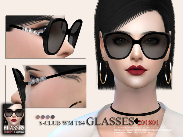 Glasses F 201801 by S Club WM at TSR image 4413 Sims 4 Updates
