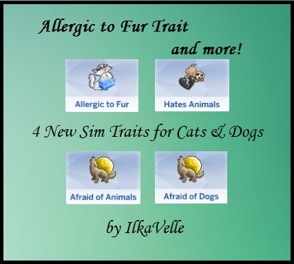 Allergic to Fur Trait and more by IlkaVelle at Mod The Sims image 4418 Sims 4 Updates