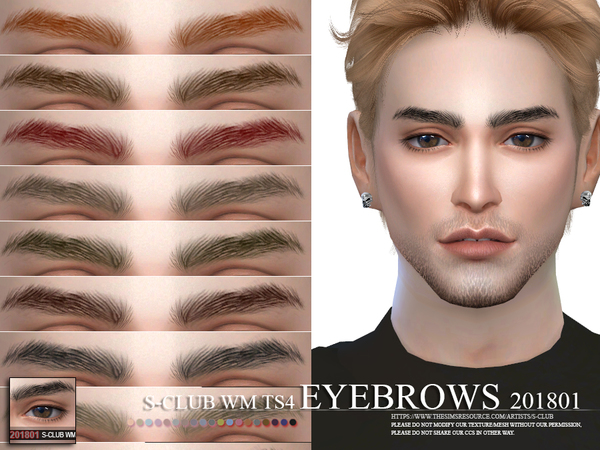 Sims 4 Eyebrows 201801 by S Club WM at TSR