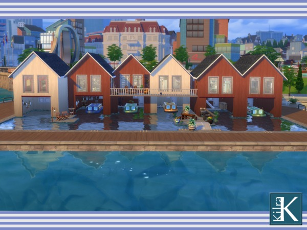 Sims 4 Boathouses Stevedore by kilra at TSR