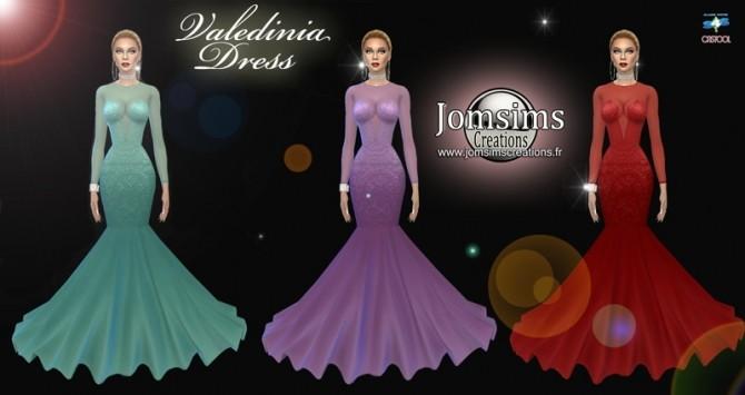 Sims 4 Valedinia dress at Jomsims Creations