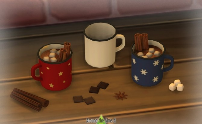Sims 4 Winter Hot Cocoa at Around the Sims 4