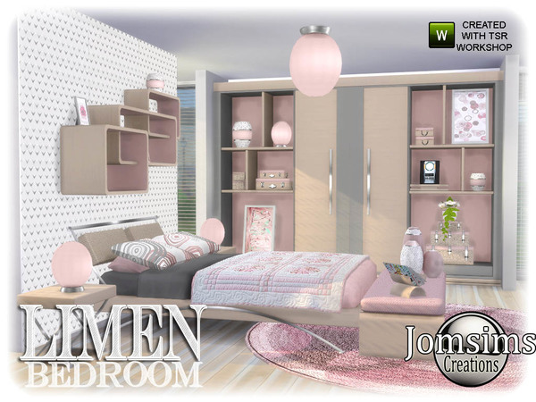 Sims 4 Limen bedroom by jomsims at TSR