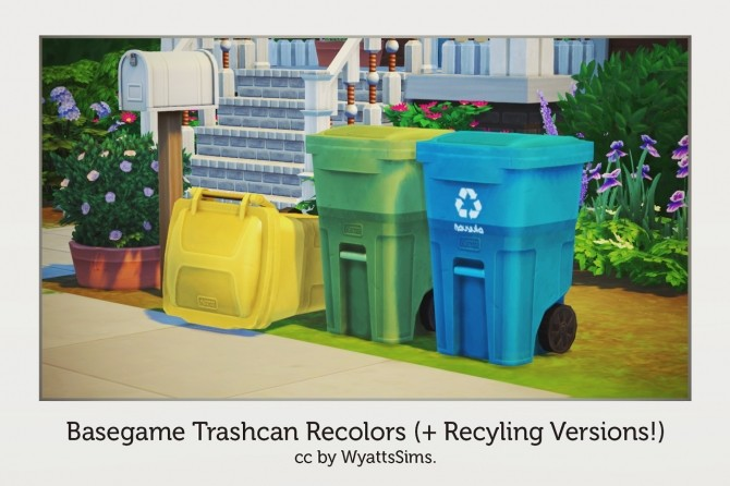 BASEGAME TRASHCAN RECOLORS at Wyatts Sims image 4513 670x446 Sims 4 Updates