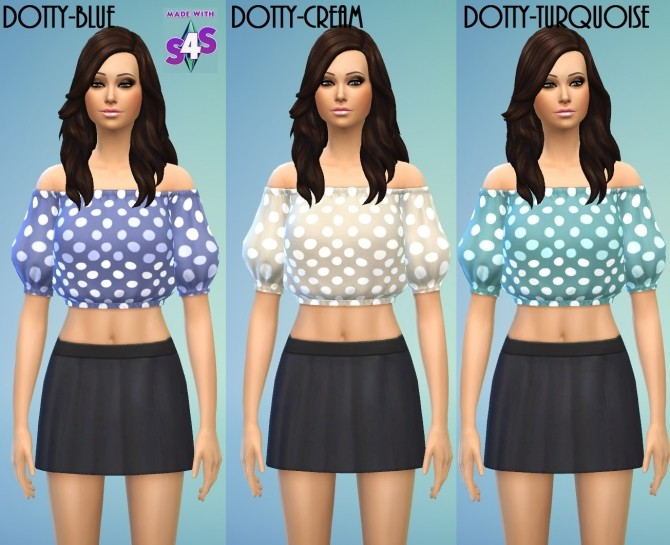 Sims 4 Blouse Crop Top Set by wendy35pearly at Mod The Sims