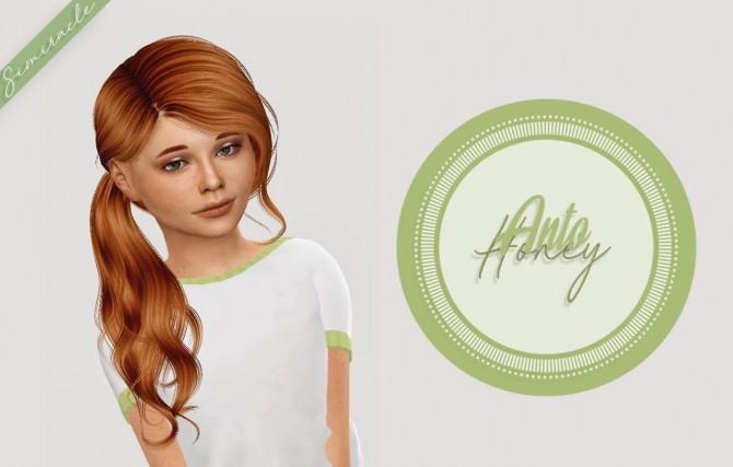 Sims 4 Anto Honey Hair Kids Version at Simiracle
