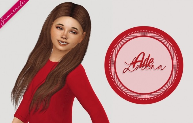 Sims 4 Ade Lorena Hair Kids Version at Simiracle