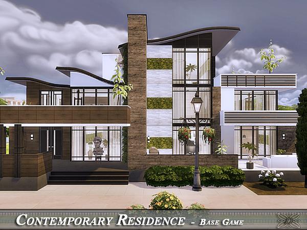 Sims 4 Contemporary Residence by Danuta720 at TSR