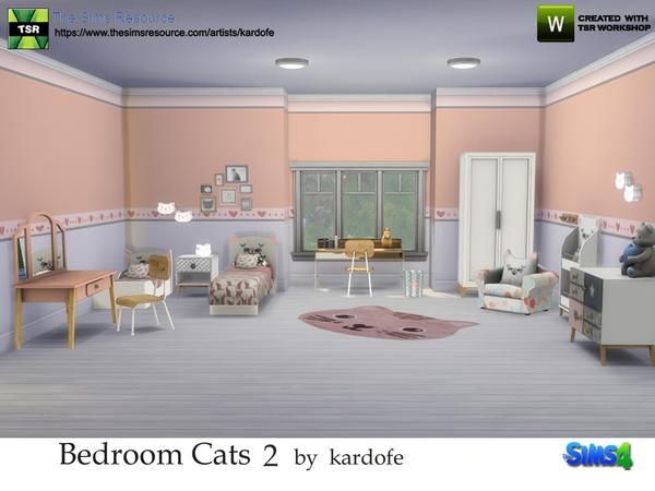 Bedroom Cats 2 by kardofe at TSR image 48 Sims 4 Updates