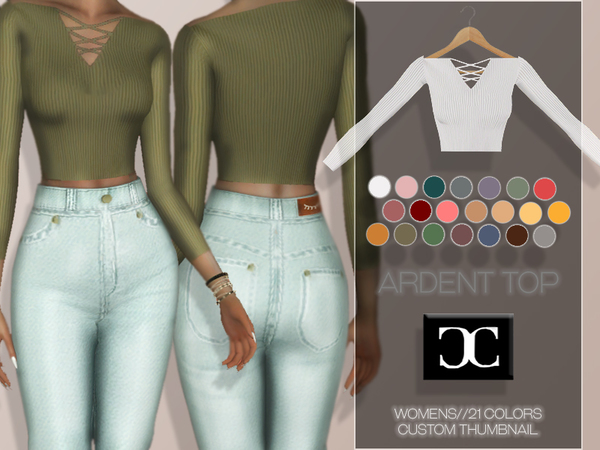 Sims 4 Ardent Top by cosimetics at TSR