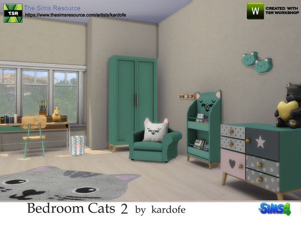 Bedroom Cats 2 by kardofe at TSR image 49 Sims 4 Updates