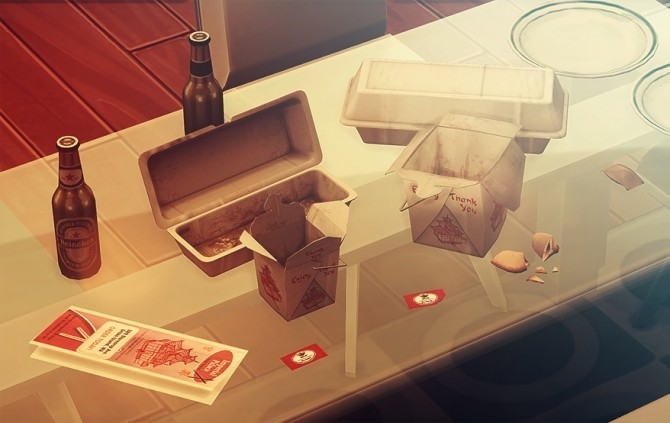 WROEF Empty Chinese Food Clutter at Josie Simblr image 490 670x423 Sims 4 Updates